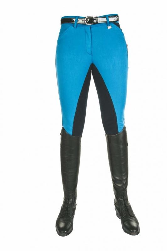 Damen Reithose Vollbesatz Pocket Flap Global Team HKM verschiedene Farben NEU