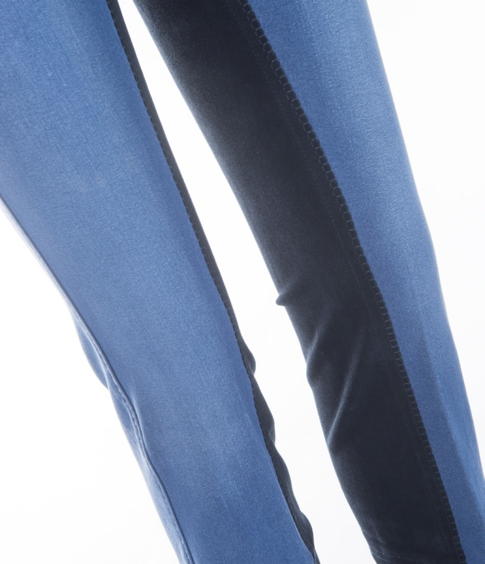 Details zu Damen Jeans Jodhpurreithose Vollbesatz Harmony ELT blau NEU